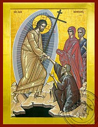 Christ Descent into Hell - Byzantine Icon