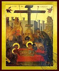 Descent from the Cross (Lamentation) - Byzantine Icon