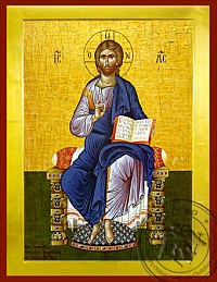 Christ Enthroned - Byzantine Icon